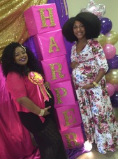 Fal & I at her baby shower.